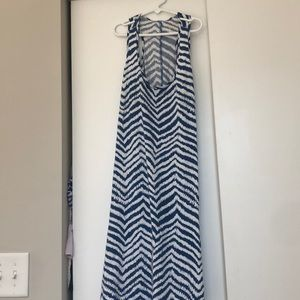 White and blue stripped Lilly summer dress